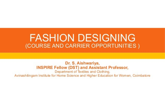 Fashion Designing Job Opportunities Dr Ash