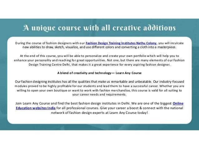 Fashion Design Training Institutes Nathu Colony