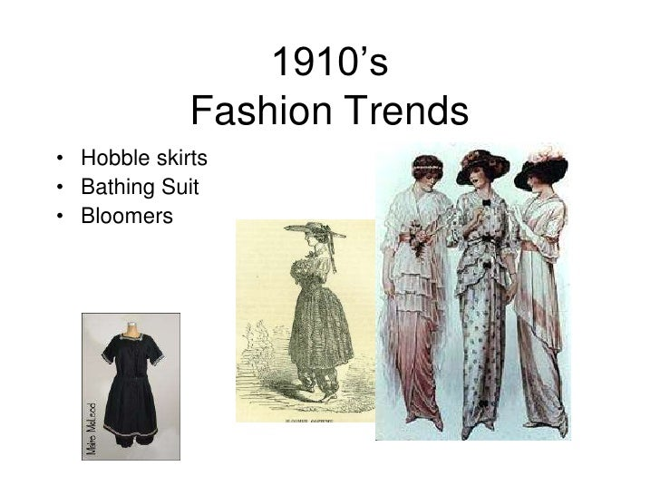 Changes in fashion trends