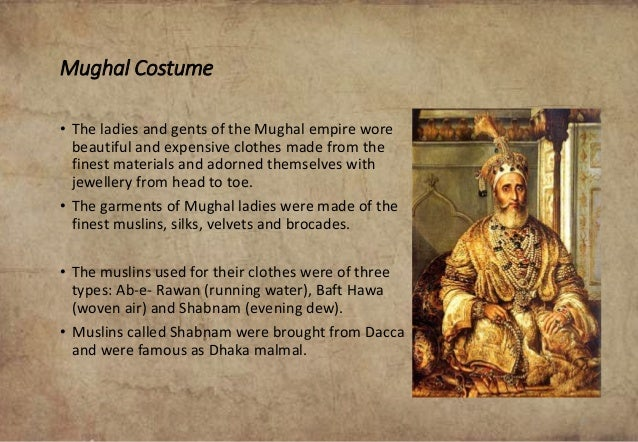 mughal empire history of clothes
