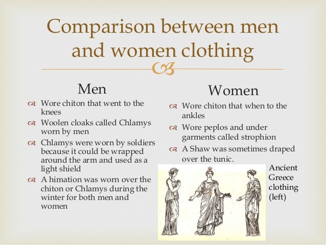 the difference between the roles of men and women in ancient rome There are few issues so hotly debated in today's society as the roles of men and women toward each other and in society the arguments range all the way from those who maintain that man is created to rule and woman to serve, to those who maintain that there are no significant differences between men and women besides the physical differences.