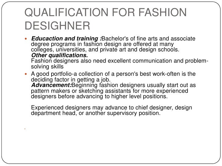 Fashion industry Associates degree in fashion design online