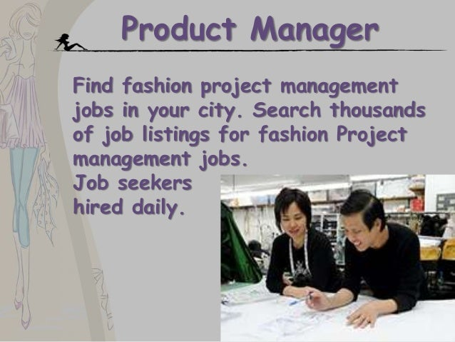 Product manager fashion jobs