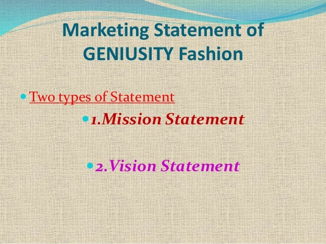 fashion marketing mix