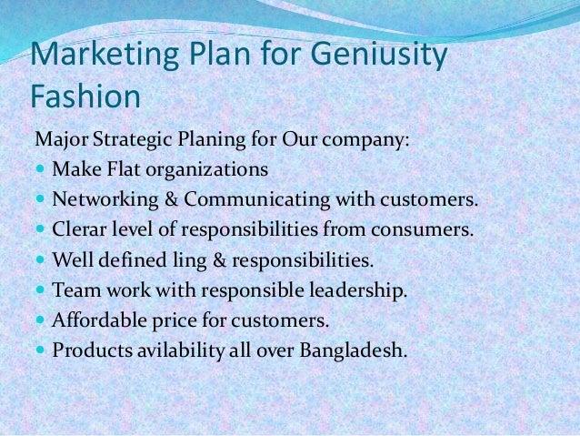 Fashion marketing : Marketing statement, object,Marketing plan, Marke…