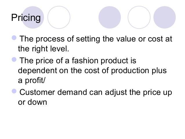 fashion marketing process