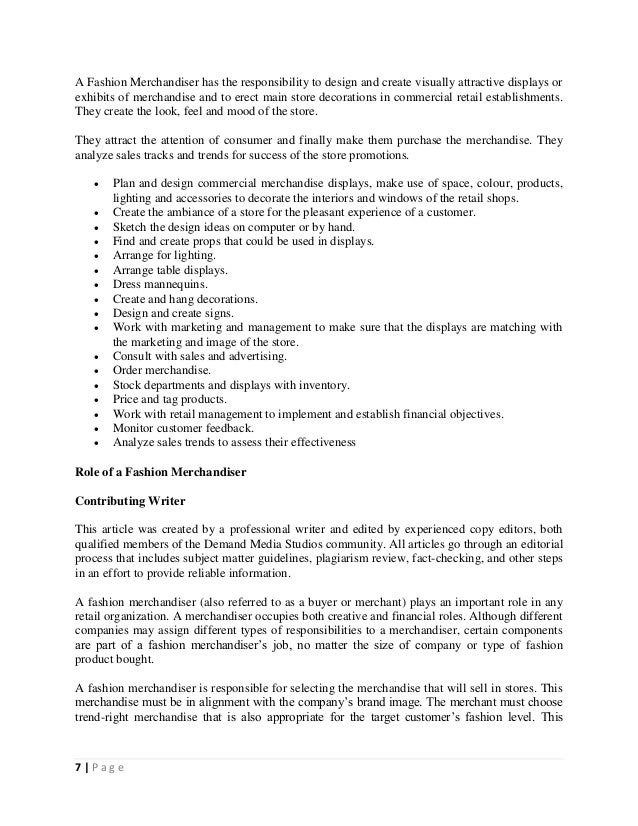 100 merchandiser job description cover letter