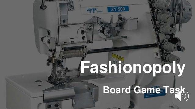 Fashionopoly Board Game Task