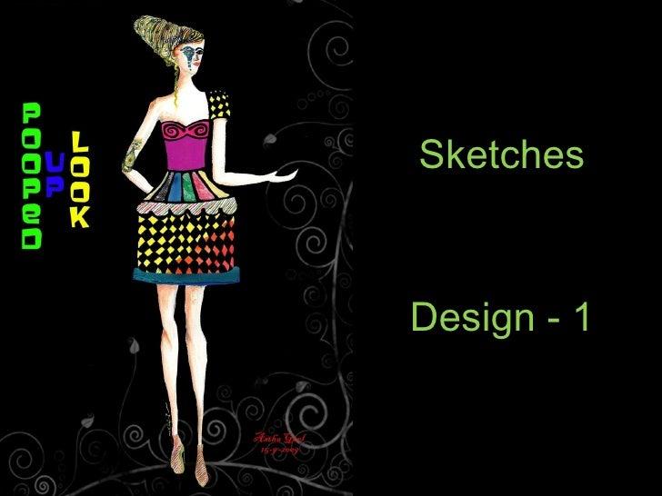Funky fashion sketch dress