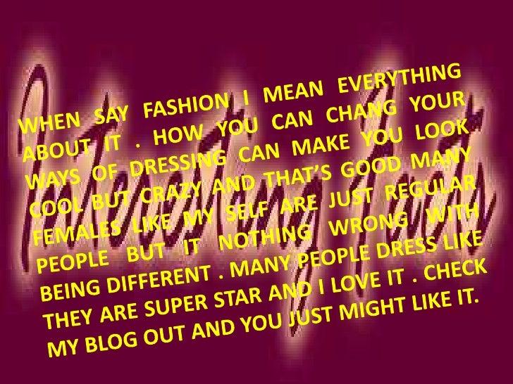 fashion crazii Slide 3