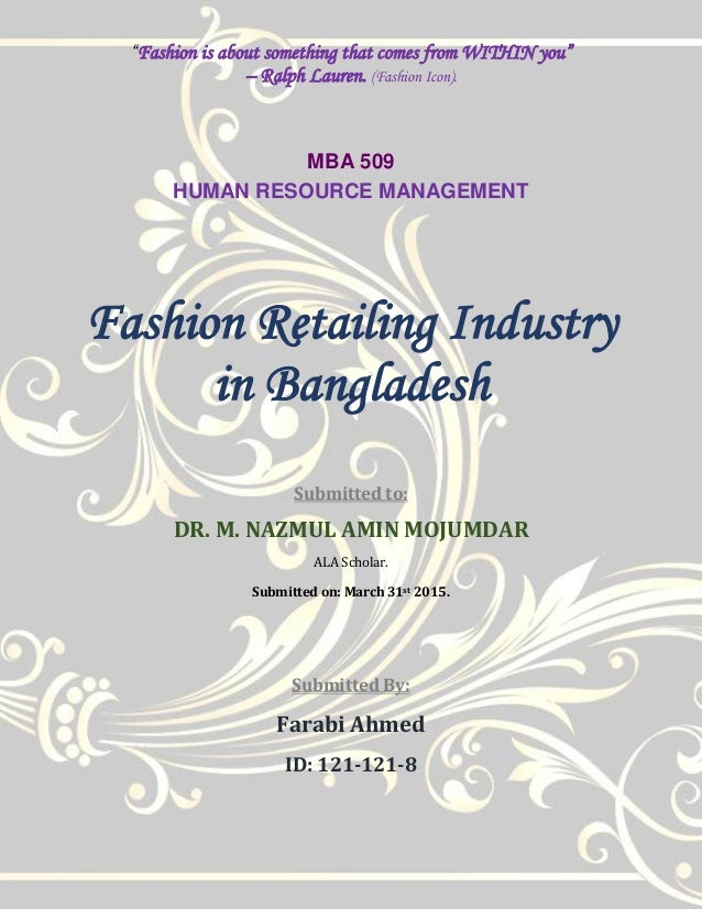 Mbus in the retailing industry essay