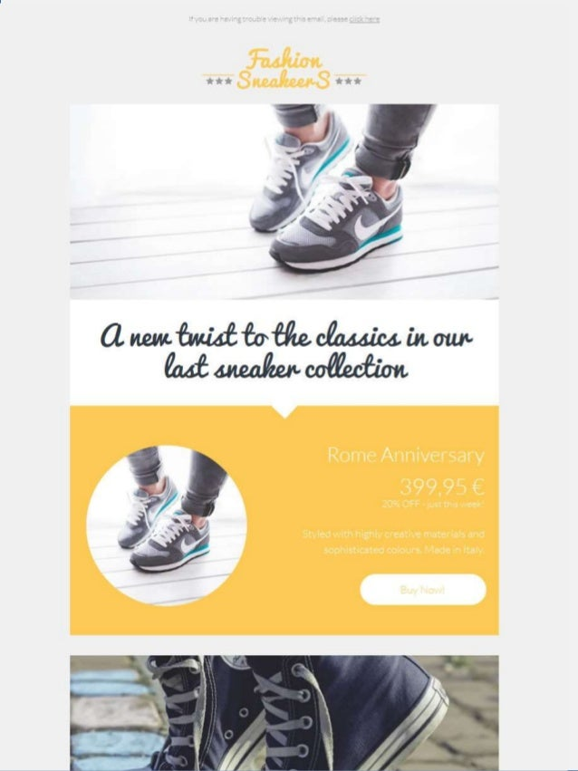 Fashion Sneakeers Email Template - Email Marketing Templates