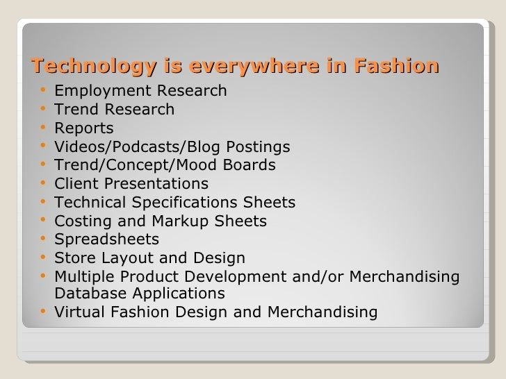 Fashion Technologies Slide 3