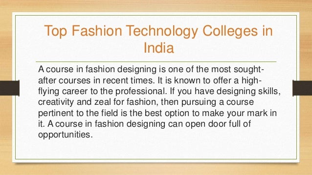 Fashion Technology Colleges Avantika University