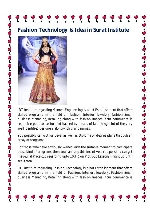 Fashion Technology Idea In Surat Institute