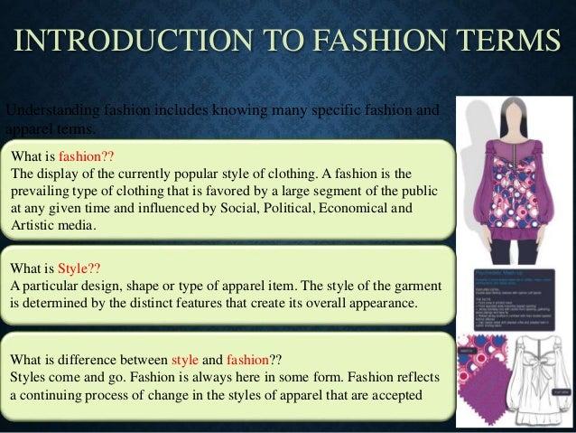 Fashionterminology