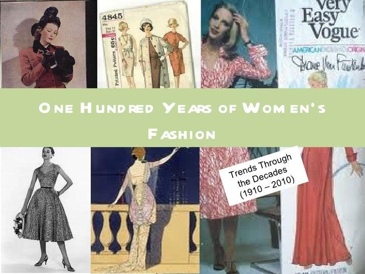 O ne H und red Years of Wom en's             Fashion                                       gh                             ...