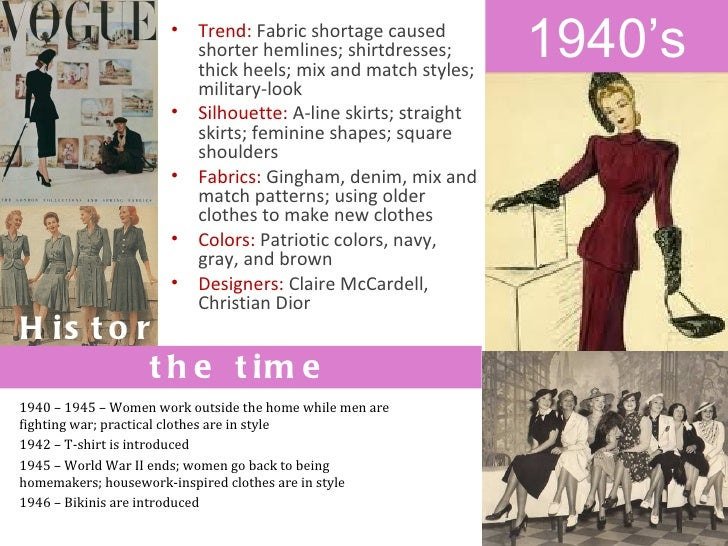 fashion through decades Men's fashion through 8 decades when edgar jerome opened their doors in  1923, men's fashion wasn't to change from the conservative wear of the average .