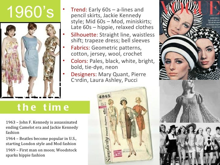 Fashion Through The Decades