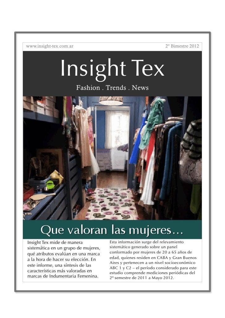 www.insight-tex.com.ar                                            2º Bimestre 2012               Insight Tex              ...