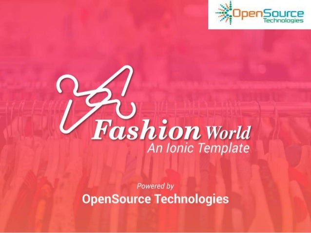Fashion World: A Complete Ionic Framework E-Commerce Template Pack