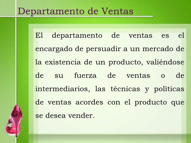 Departamento de ventas for Oficina comercial definicion