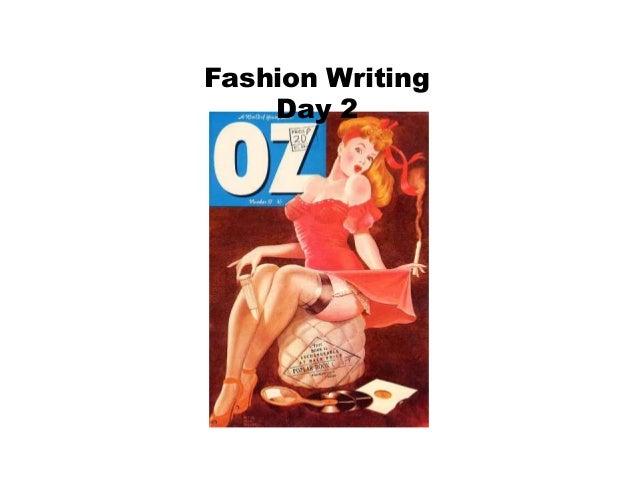 Fashion Writing Day 2