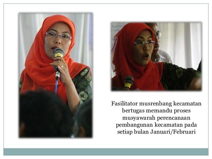 Fasilitator musrenbang kecamatan   smd Slide 2