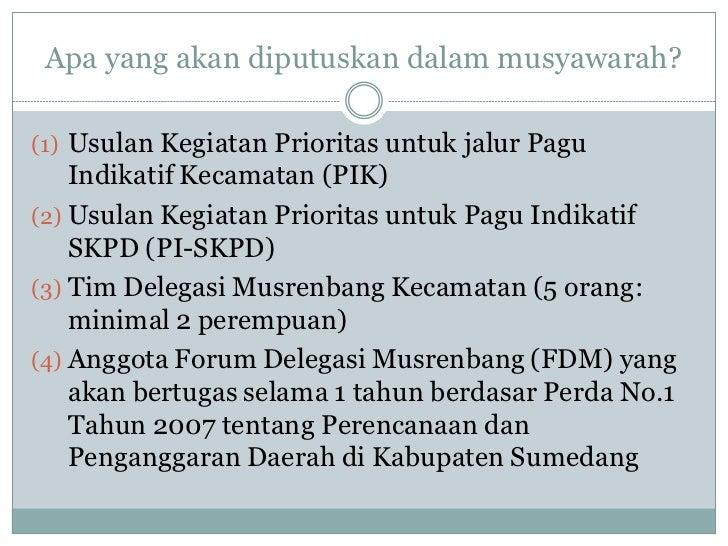 Fasilitator musrenbang kecamatan   smd Slide 3