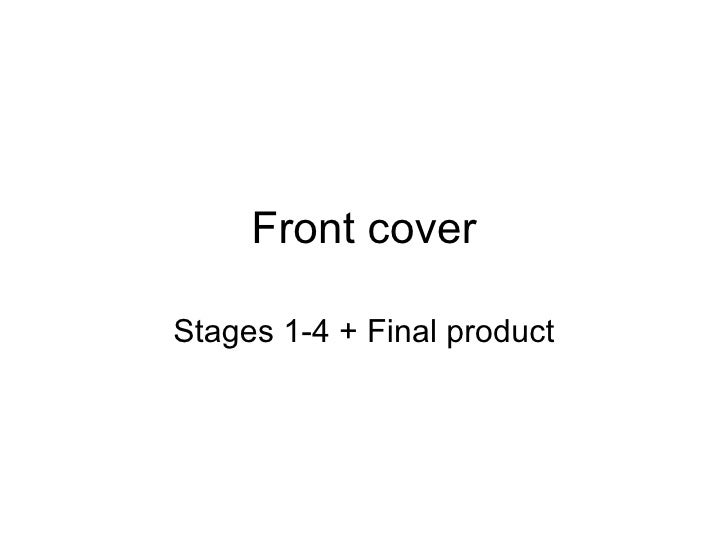 Front cover Stages 1-4 + Final product