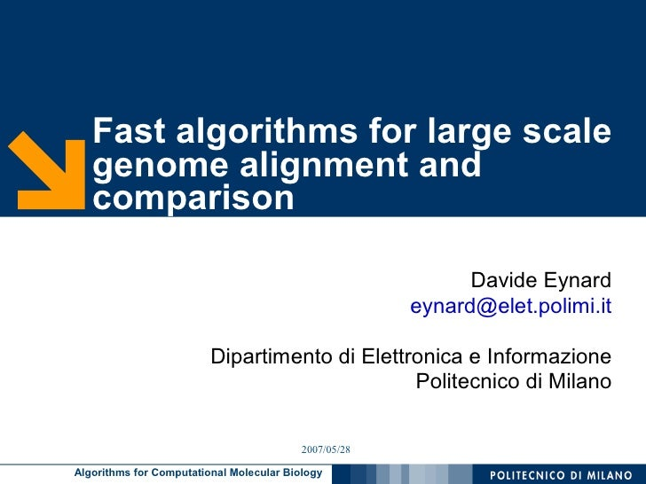 Fast algorithms for large scale    genome alignment and    comparison                                                     ...