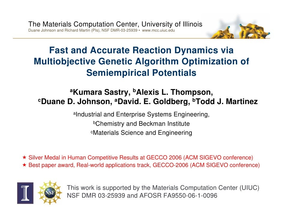 The Materials Computation Center, University of Illinois Duane Johnson and Richard Martin (PIs), NSF DMR-03-25939 • www.mc...