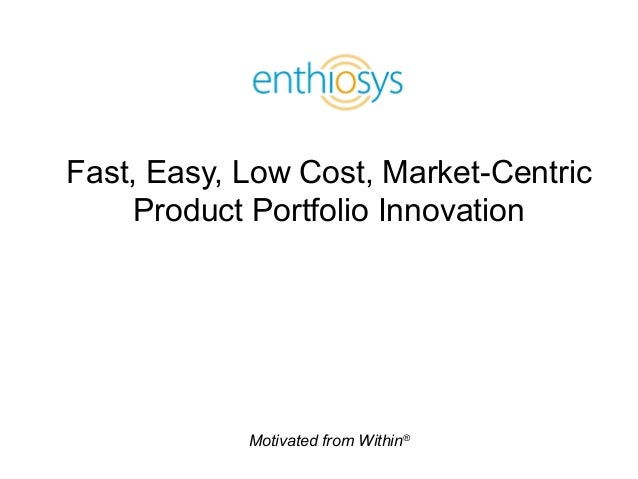 Motivated from Within® Fast, Easy, Low Cost, Market-Centric Product Portfolio Innovation