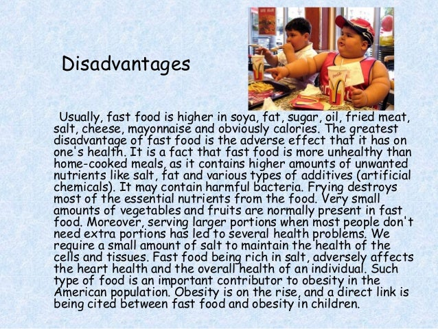 fast food advantages and disadvantages essay in tamil
