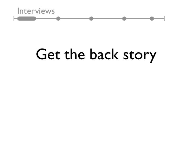 Interviews    Get the back story
