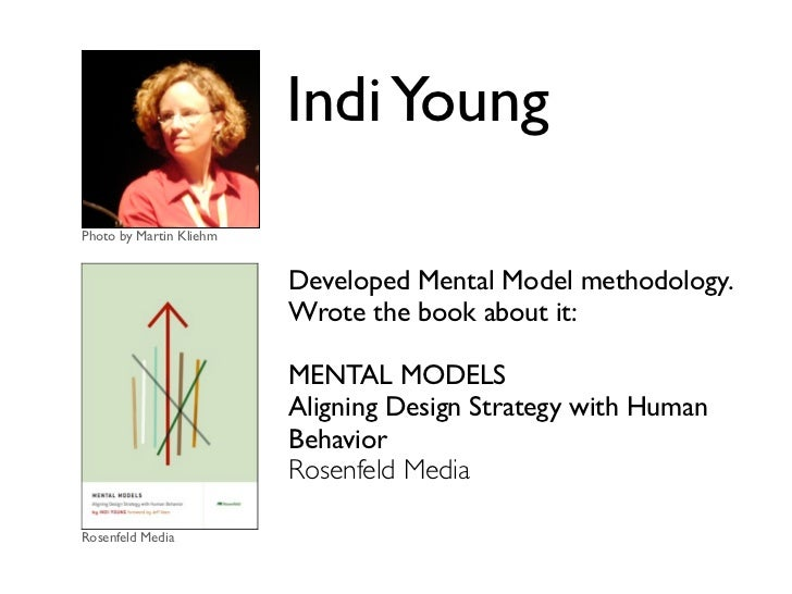 Indi YoungPhoto by Martin Kliehm                         Developed Mental Model methodology.                         Wrote...