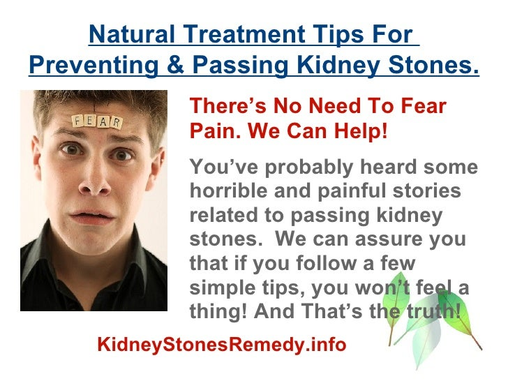 Passing Kidney Stones Natural Treatment