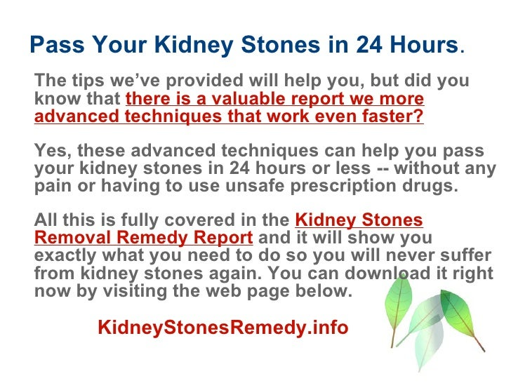 Fast And Effective Kidney Stones Treatment