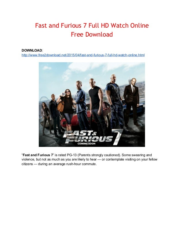 Watch Fast And Furious 7 Online