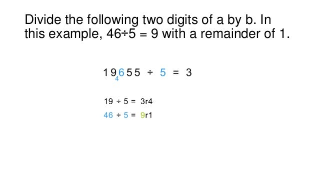 Fast basic math skills - divide any number by single digit number