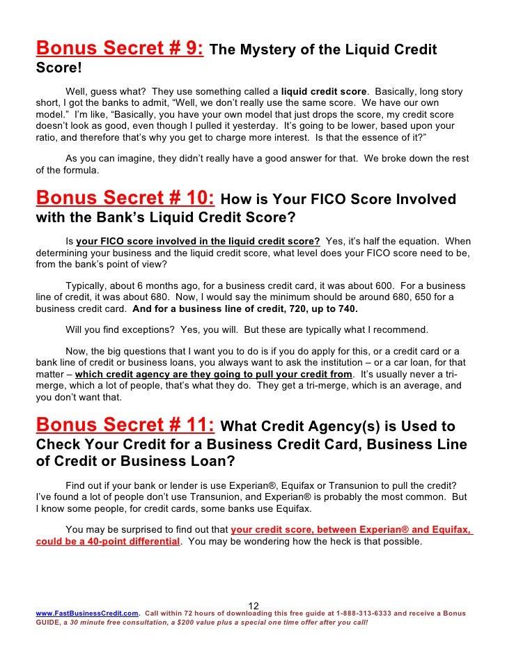 Fast business credit bonus report 15 bonus secrets 4 2 09 12 reheart Gallery