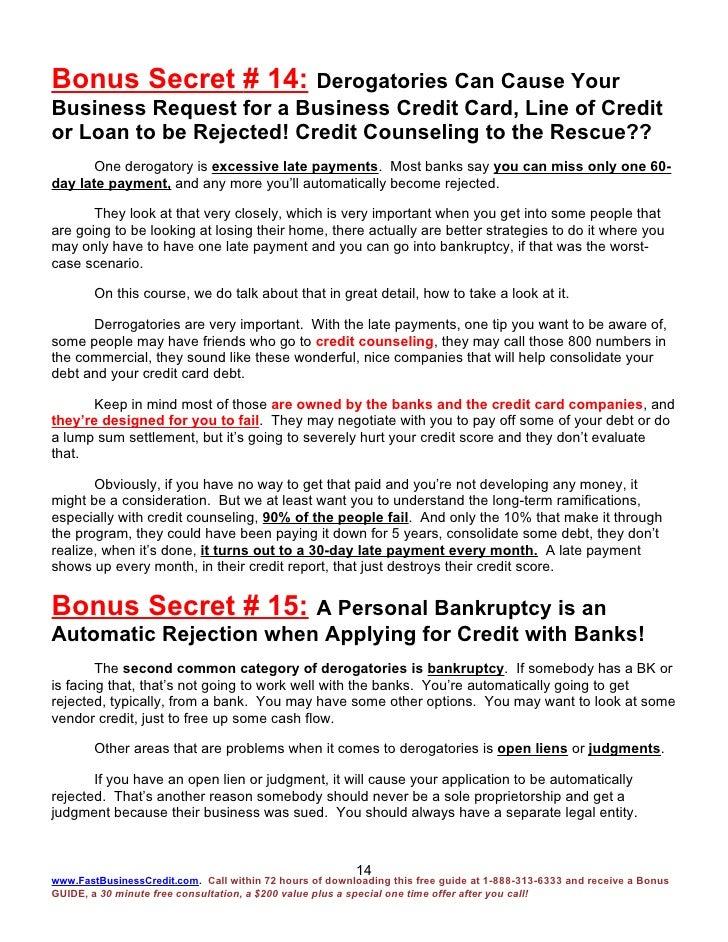Fast business credit bonus report 15 bonus secrets 4 2 09 14 reheart Gallery