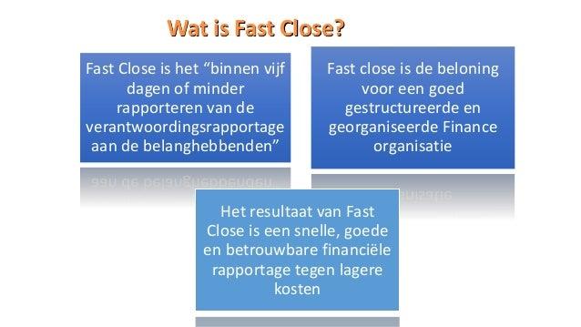 Fast Close Manager schermafdrukken, Fast Close snel implementeren met documenten beheer en proces beheer Slide 2