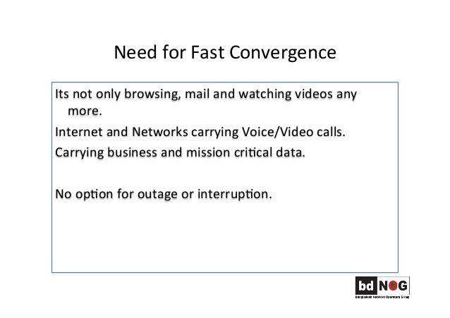 Fast Convergence Techniques Slide 2