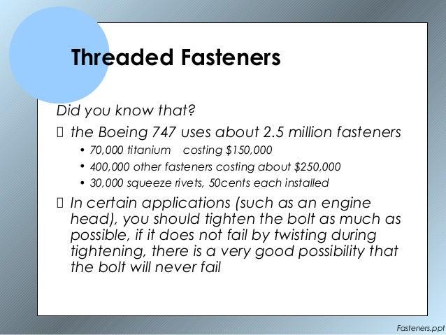 Fasteners (1) Slide 2