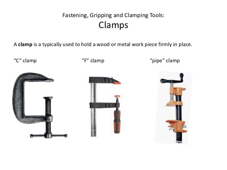 Fastening Gripping And Clamping Tools Revised