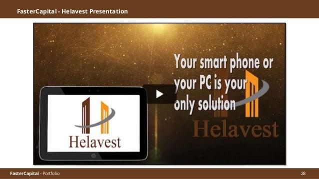 FasterCapital - Portfolio FasterCapital - Helavest Video Pitch 29