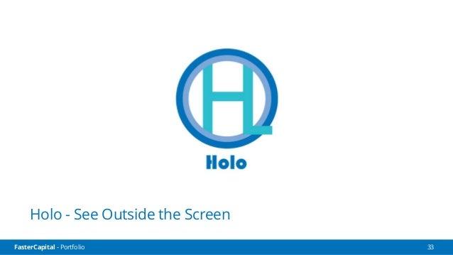 FasterCapital - Portfolio FasterCapital - Holo Video Pitch 34