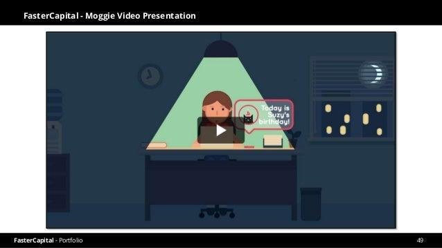 FasterCapital - Portfolio FasterCapital - Moggie Video Pitch 50