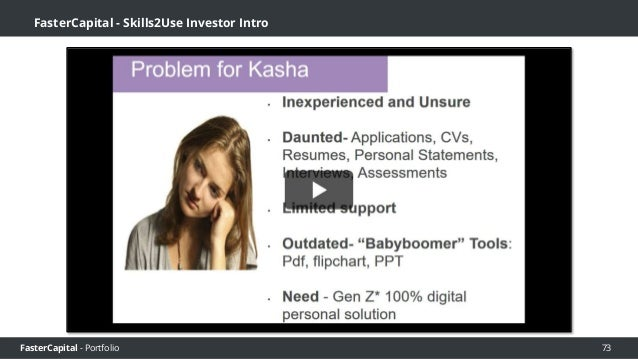 FasterCapital - Portfolio FasterCapital - Skills2Use Personal Statement 2 Screencast 74